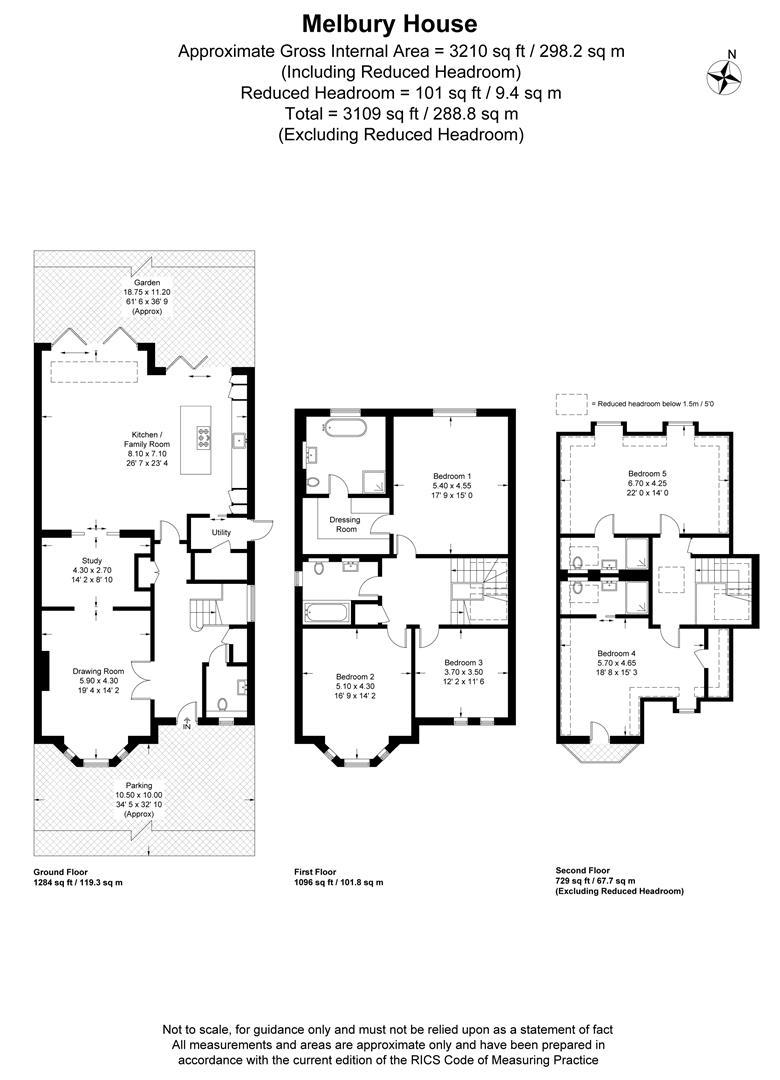 Floorplan for Copse Hill, Wimbledon